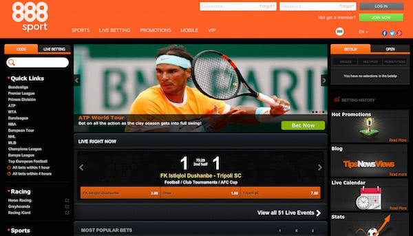 888Sport Website