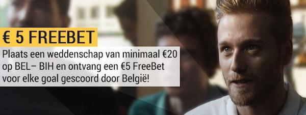 Gokken op Belgie Bosnie