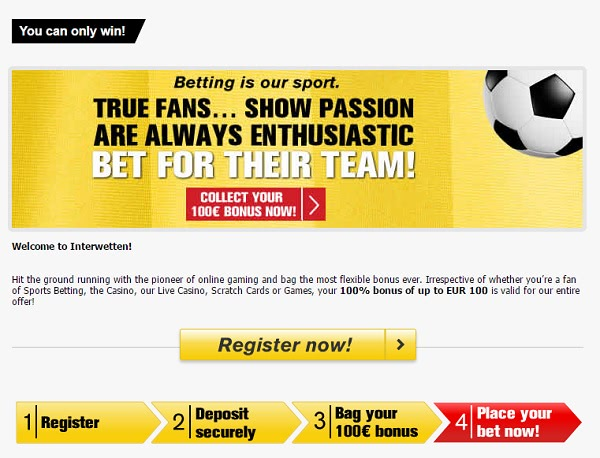 Interwetten welcome bonus