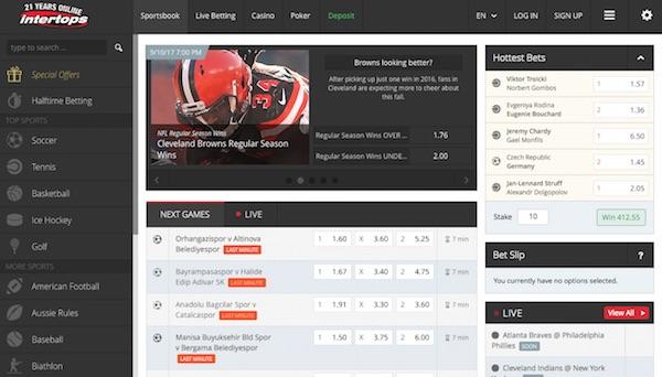 Intertops Startpagina