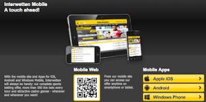Interwetten mobiele app