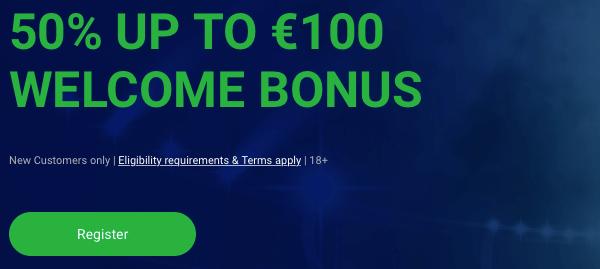 Win 50 percent bonus tot een maximum bedrag van 100 euro bij Bet90