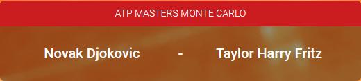 Djokovic is favoriet op de ATP Masters Monte Carlo tegen Taylor Fritz