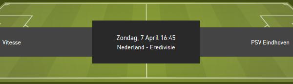 Zet in op de quoteringen Vitesse tegen PSV bij bookmaker Bet777