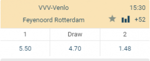 VVV Feyenootd gokken eredivisie odds