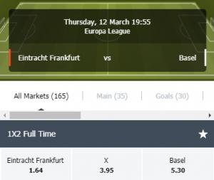 de odds bij frankfurt tegen basel