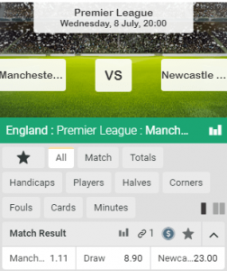 Manchester CIty favoriet tegen Newcastle