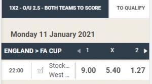 wedden op Stockport County - West Ham United