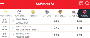 Ladbrokes odds bij UK open darts 5-7 maart