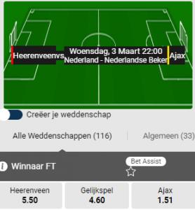 Heerenveen - ajax amsterdam