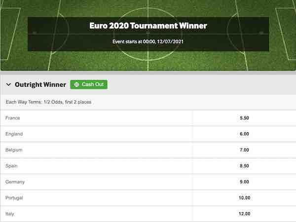 EK winner odds betway